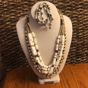 Stella & Dot convertible necklace & bracelets